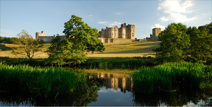 Alnwick Castle - only 4 miles from Alnmouth, the stunning medieval castle was used as Hogwarts in the Harry Potter films